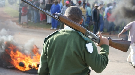 Riot Guard with Shotgun