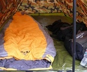 Teton Sleeping Bag Inside Tent
